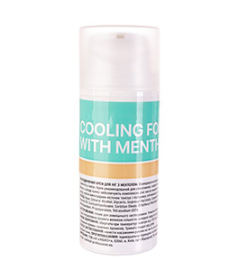 Cooling foot cream with menthol